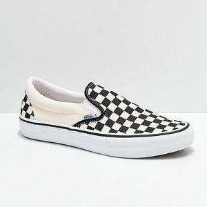 Vans Slip-On Pro Black & White Checkerboard